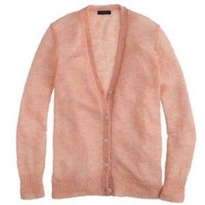 J Crew Kid Mohair Cardigan Sweater Size Medium